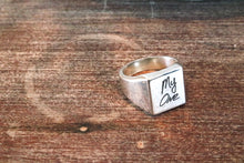 Handwritten Signet Ring