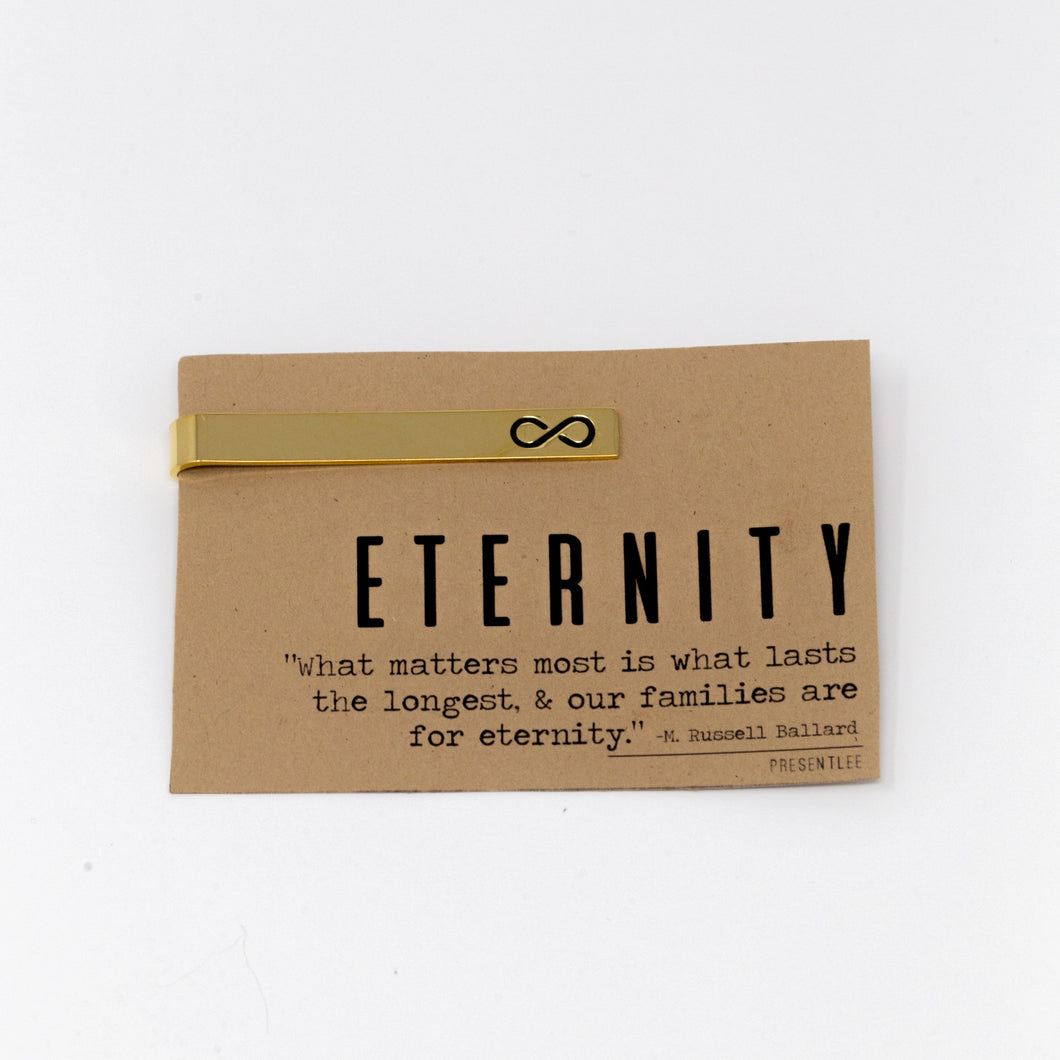 Gold Eternity Tie Bars