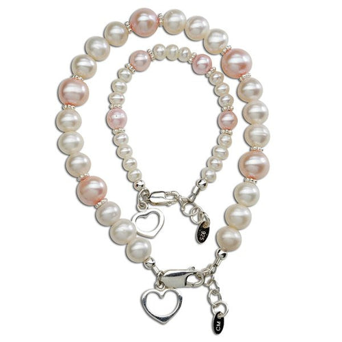 Mom and Me Bracelet Set - Your Hearts are Entwined Forever