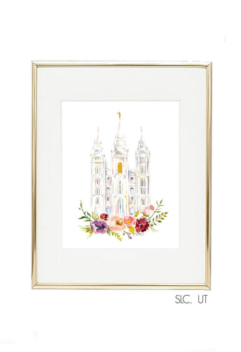 LDS Temple Watercolor