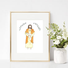 Christ & Baby Watercolor Print