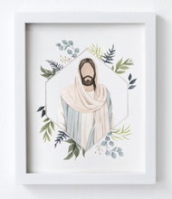 Jesus Christ Faceless Portrait Watercolor Print