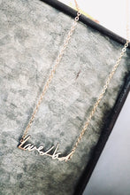 Handwritten Cutout Necklace