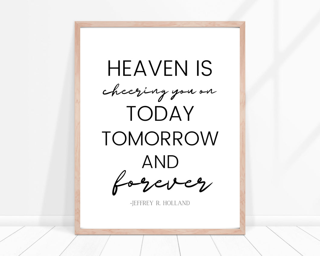 Heaven Is Cheering You On Printable
