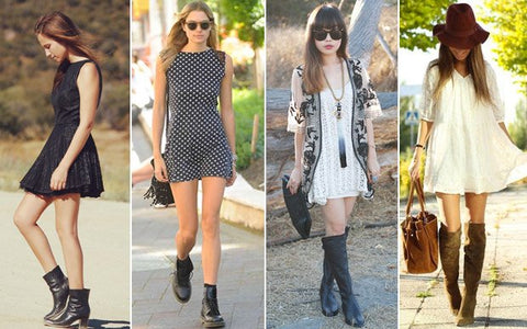 Girls dresses boots