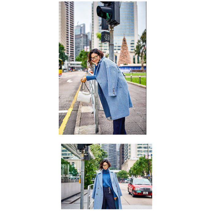 Long Blue Coat Jacket