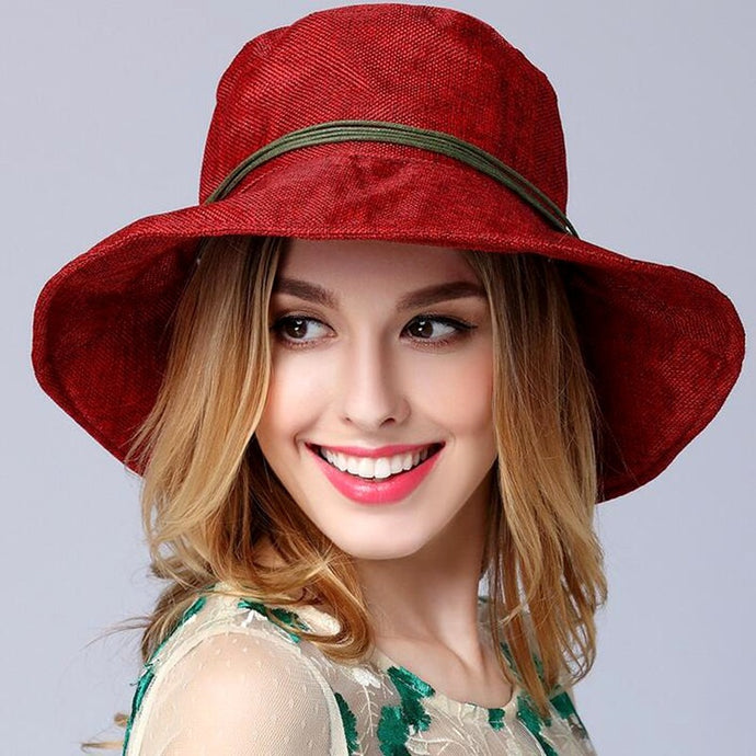be7a1a2090488 Women Fashion Jewelry and Accessories - trendNchic. Vintage Linen Beach Hat