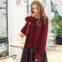 Flare Sleeve Drop Shoulder T-Shirt