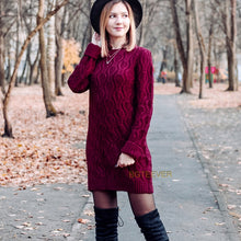 Thick O-neck Sweater Dress