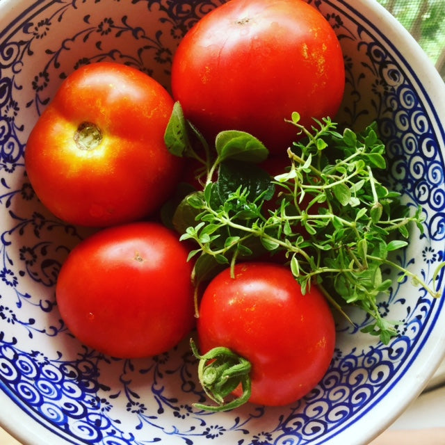 Obsessed with herbs and tomatoes