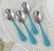 Royal Demi Spoons Turquoise Set/4