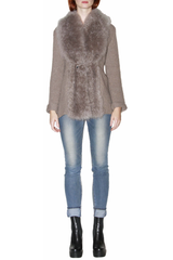 Cashmere Sweater with Cashmere Goat Fur