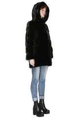 Male Mink Jacket with Hood
