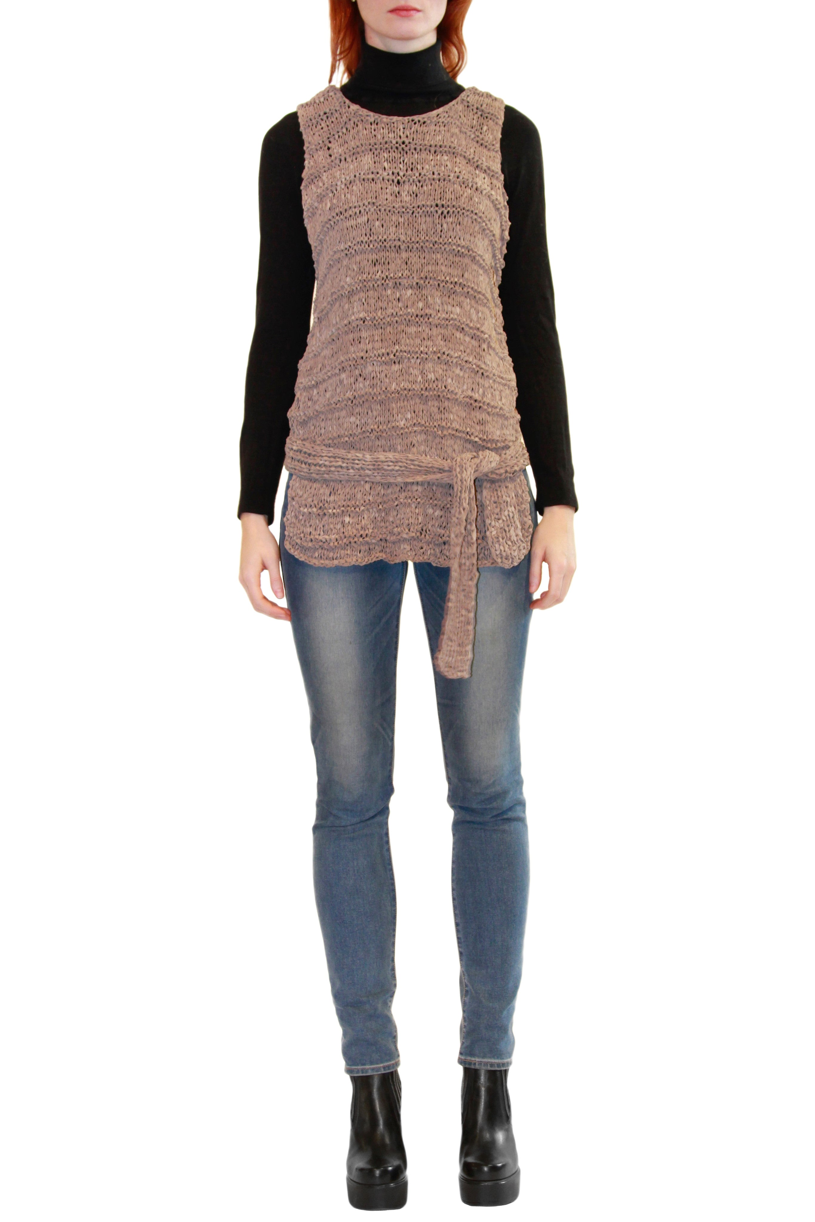 Knit Suede Top