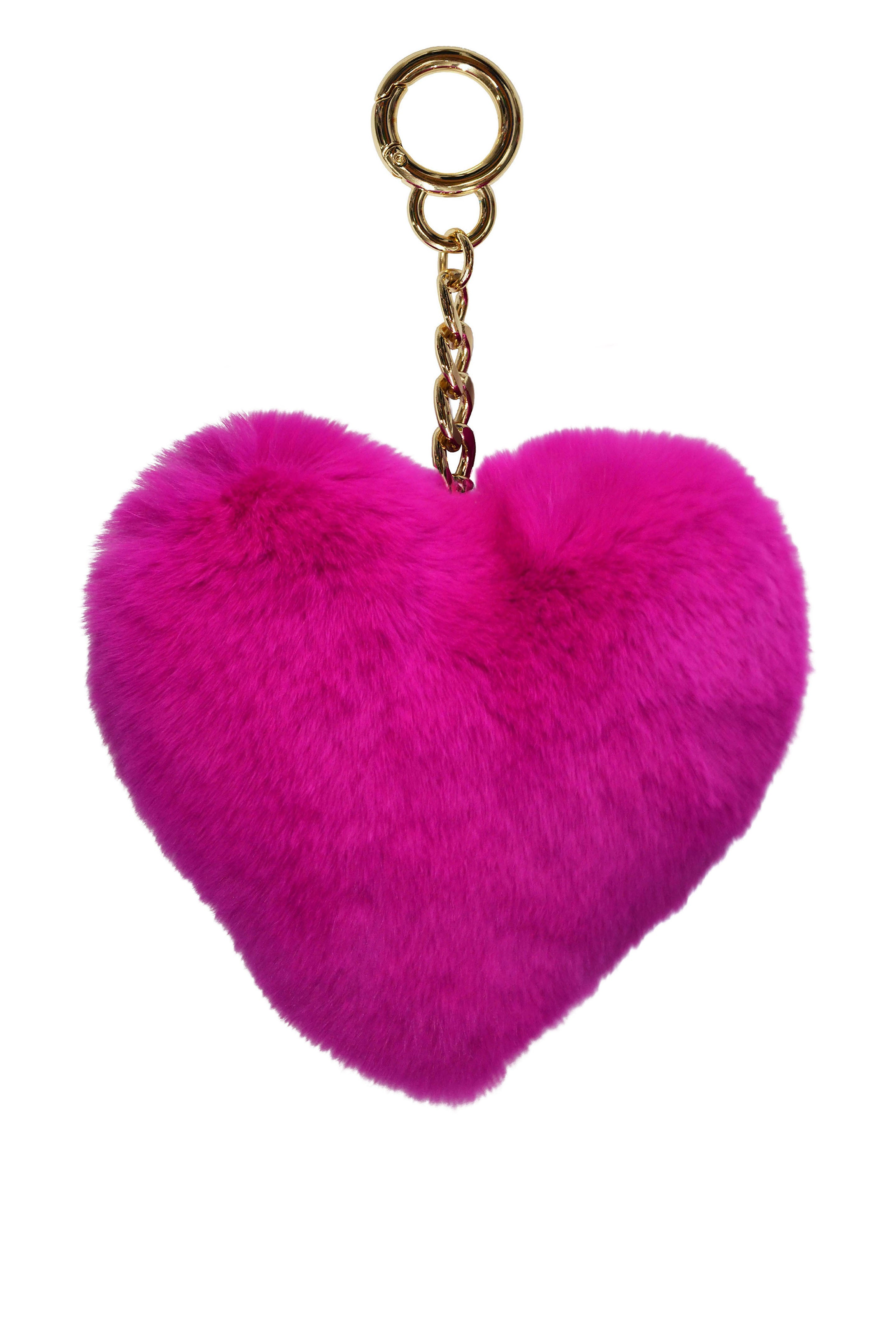 Heart Keychain in Fuchsia
