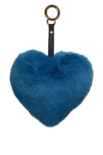 Heart Keychain in Teal