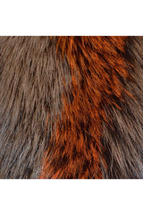 Fox Stripe Collar with Gross Grain, Brown and Orange