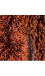 Fox Diamond Cut scarf with Diamond cut tail decoration, Orange