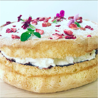 Sponge Cake with jam and cream (GF)