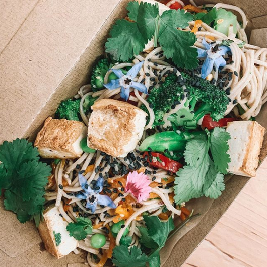 Soba Noodle salad with Tofu OR Salmon