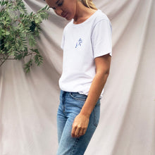 Bluebell Embroidered Charity Organic Cotton Low Crew