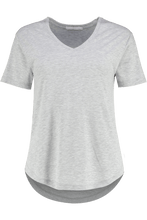 T Shirts - Dotty V Grey Marl