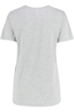 T Shirts - Maggie Classic Crew Grey Marl