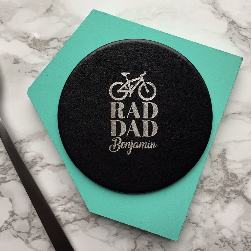Personalised Dads coaster