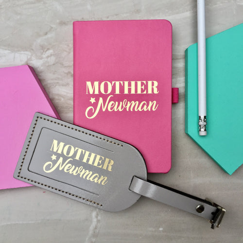 Personalised notebook & luggage tag set