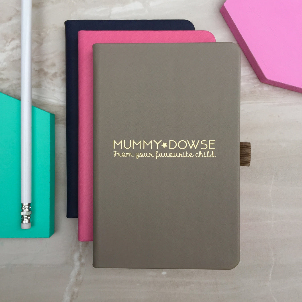 'Favourite child' personalised notebook