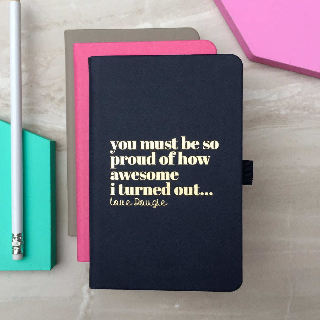 'I am Awesome' personalised notebook