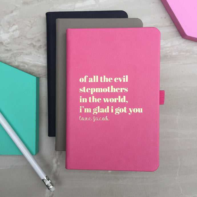 'Evil Step-mum' personalised notebook