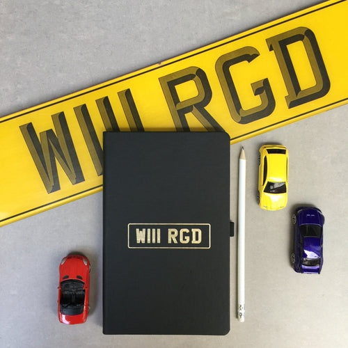Number plate notebook