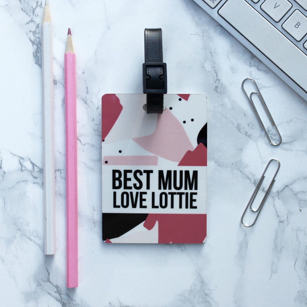 Best Mum Luggage Tag