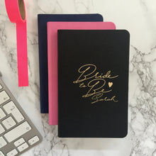Personalised 'Bride' Notebook