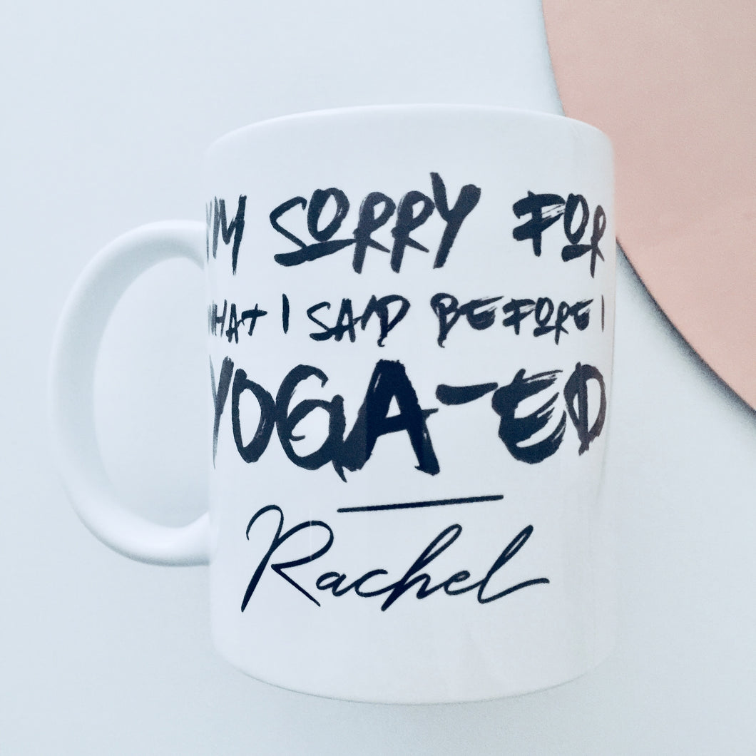 Personalised 'Yoga-ed' Mug