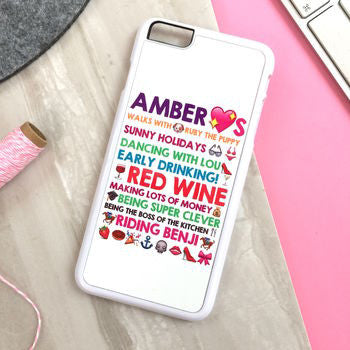Personalised iPhone Cover With Emoticons