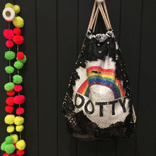 Personalised Rainbow sequin bag