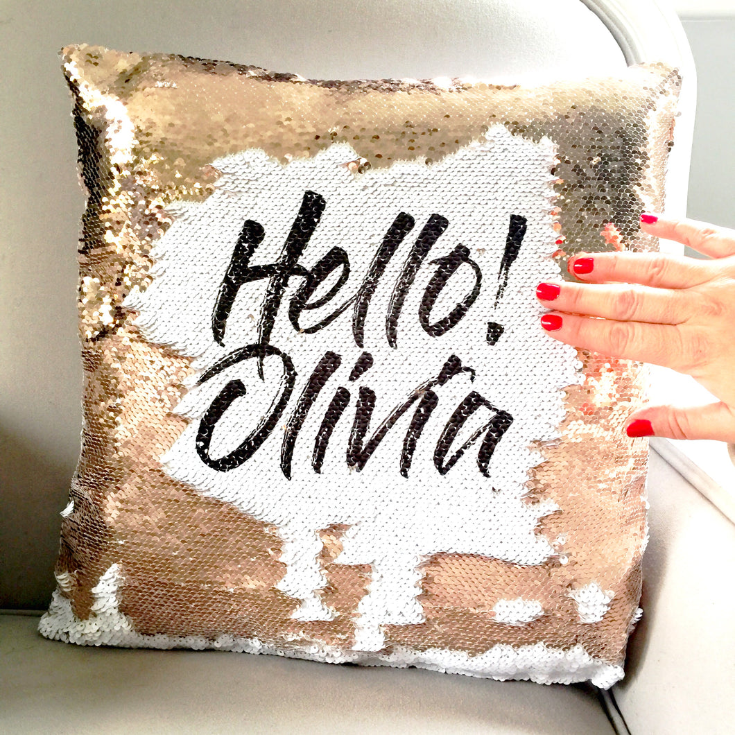 Sequin Reveal Cushion cover