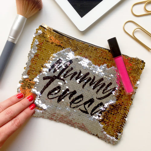 Sequin Reveal Make up bag