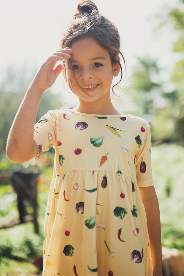 Sleeve Veggies Dress