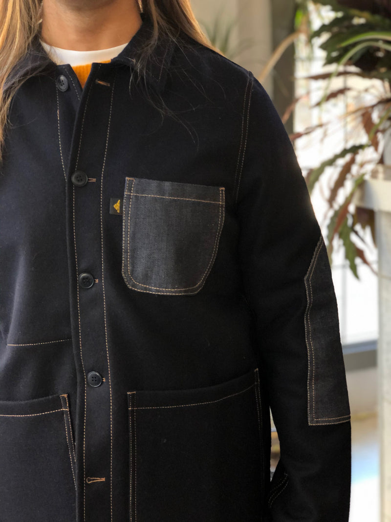 Work Jacket With Contrasting Patches