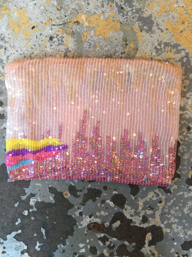 Sequin Cloud Clutch