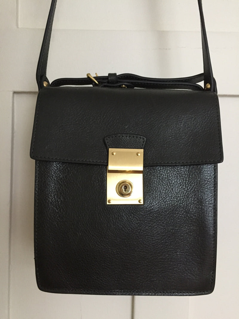 Dark Green Lockbox Handbag
