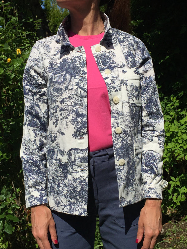 Toile Print Work Jacket