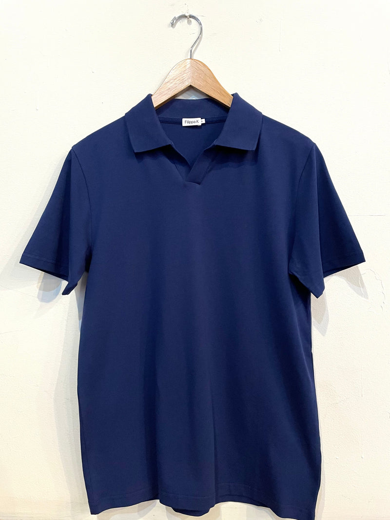 Lycra Polo Shirt - Marine Blue