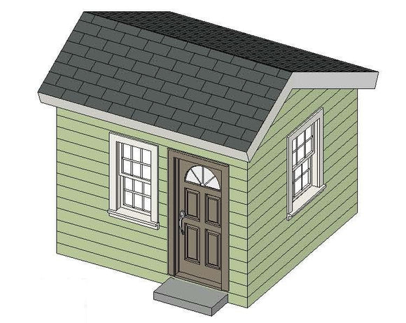 8' x 8' Saltbox Playhouse Plan