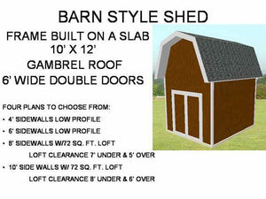 10' x 12' Pole Barn Style Shed