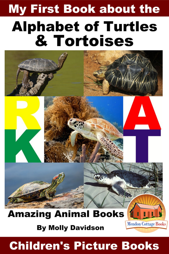 My First Book about the Alphabet of Turtles and Tortoises - Amazing Animal Books