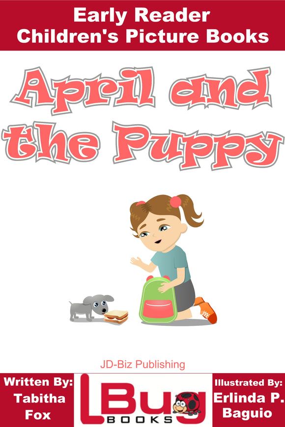April and The Puppy - Early Reader - Children's Picture Books